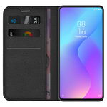 Leather Wallet Case & Card Pouch for Xiaomi Mi 9T / Redmi K20 Pro - Black